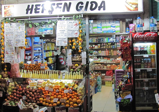 corner grocery store in Istanbul