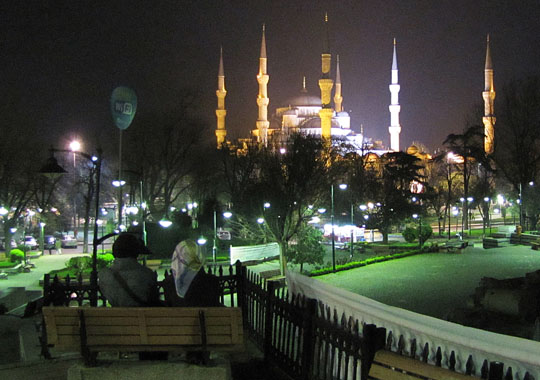 the Blue Mosque, Istanbul at night