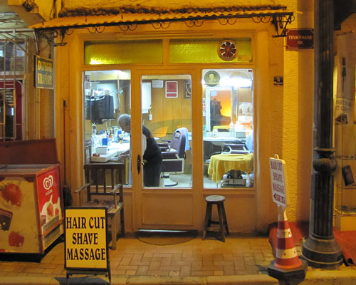 barber shop in Sultanahmet, Istanbul