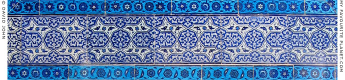 Ottoman ceramic tiles in the Topkapi Palace, Istanbul at The Cheshire Cat Blog
