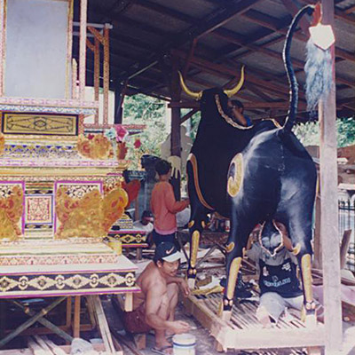 Balinese Sarcophagus maker's workshop