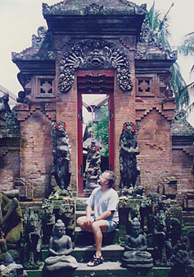 Gateway to a Balinese temple