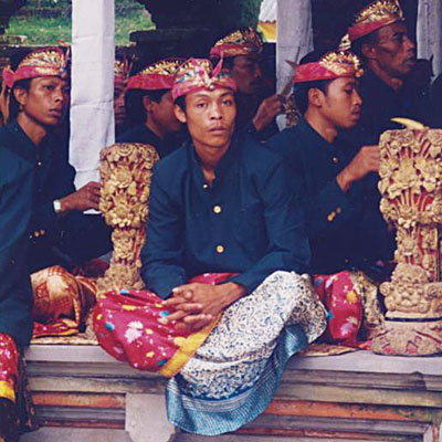 Balinese temple musicians