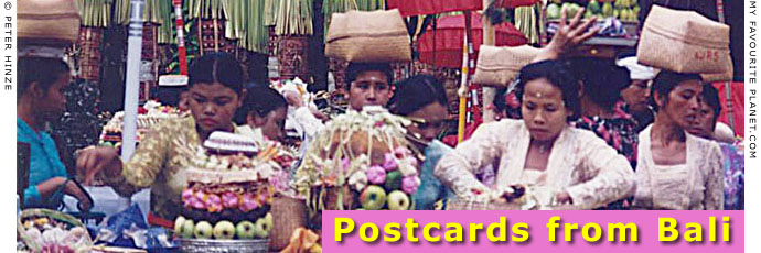 Postcards from Bali by Peter Hinze at The Cheshire Cat Blog