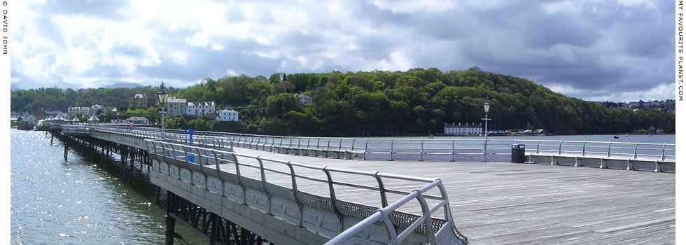 Panoramic view from the east end of Bangor Pier, North Wales at The Cheshire Cat Blog