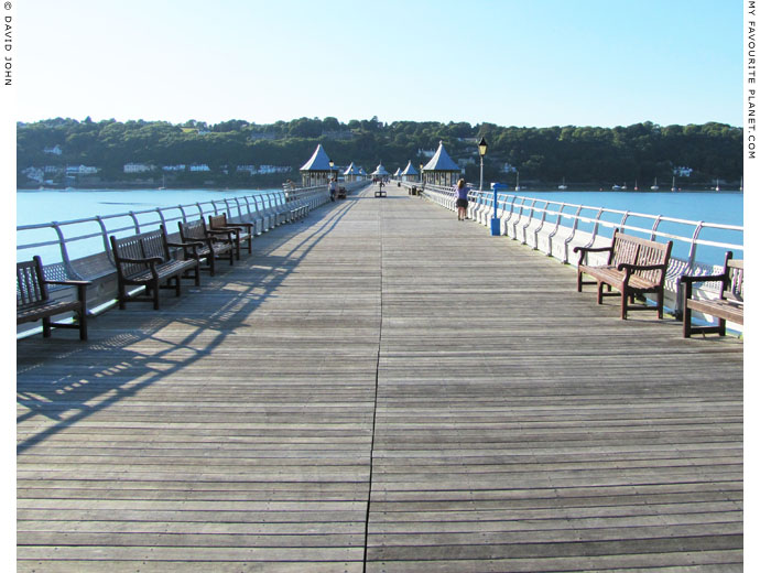 The view along the length of Bangor Pier, North Wales at The Cheshire Cat Blog