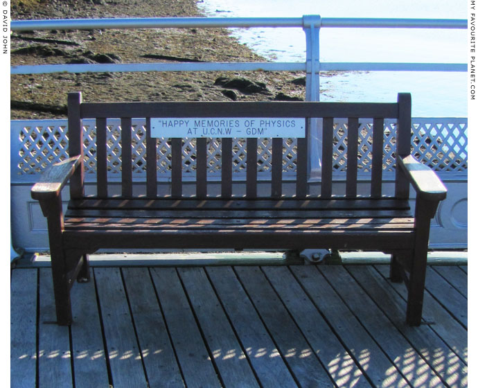 Physics memorial bench on Bangor Pier, North Wales at The Cheshire Cat Blog