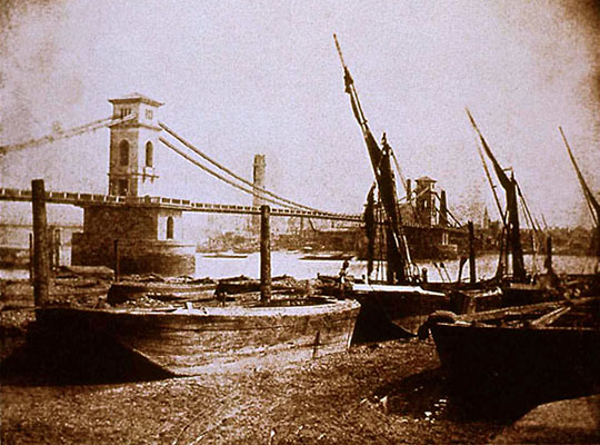 Hungerford Bridge, London by Fox Talbot at the Cheshire Cat Blog