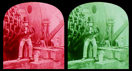 stereoscopic photo of Isambard Kingdom Brunel at the Cheshire Cat Blog