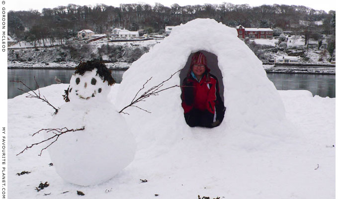 An igloo on the Menai Straits by Gordon Mcleod at The Cheshire Cat Blog