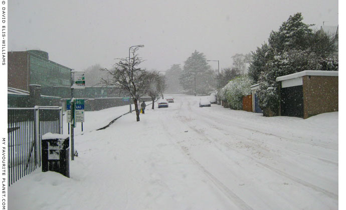 Bangor in the snow by David Elis-Williams at The Cheshire Cat Blog