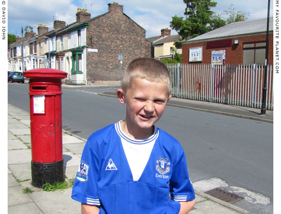 young Everton supporter, Toxteth, Liverpool