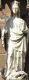 Statue of Saint Margaret of Antioch, Princes Road, Toxteth, Liverpool at The Cheshire Cat Blog