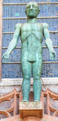 Statue of the Risen Christ by Elisabeth Frink, Liverpool Cathedral at The Cheshire Cat Blog