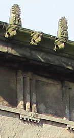 Metopes, lions and palmettes on the edge of the roof of the Oratory, Liverpool at The Cheshire Cat Blog