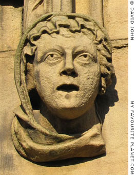 Sculpted head of a woman, Saint Luke's Church, Bold Sreet, Liverpool at The Cheshire Cat Blog