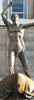 Liverpool Resurgent, naked statue by Jacob Epstein outside Lewis's department store, Lime Street, Liverpool at The Cheshire Cat Blog
