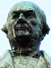 Statue of William Gladstone MP by Thomas Brock, Liverpool at My Favourite Planet