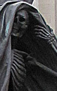 Figure of Death on Nelson's Monument by Mathew Cotes Wyatt, Exchange Flags, Liverpool at The Cheshire Cat Blog