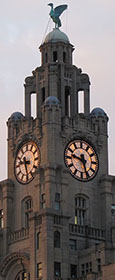 the Royal Liver Insurance Building, Pier Head, Liverpool at The Cheshire Cat Blog