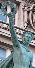 Pro Patria statue, Cunard War Memorial by Arthur Davis 1921, Pier Head, Liverpool at The Cheshire Cat Blog