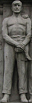 Statue of a ship's engineer, Titanic Memorial, Pier Head, Liverpool at The Cheshire Cat Blog