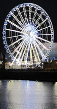the Big Wheel at Albert Dock, Liverpool at The Cheshire Cat Blog