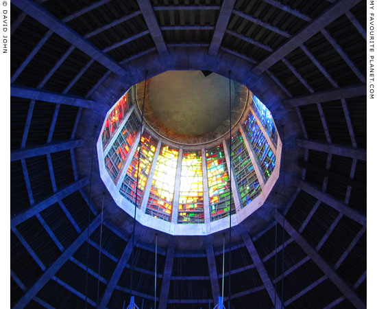 Stained glass in the Liverpool Metropolitan Cathedral at The Cheshire Cat Blog