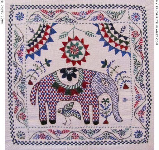 Traditional Kantha embroidery from Bangladesh