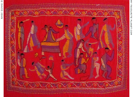 Traditional Kantha embroidery from Bangladesh in the Liverpool Metropolitan Cathedral at The Cheshire Cat Blog