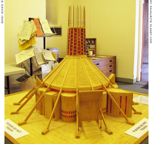 Matchstick model of the Liverpool Metropolitan Cathedral by Arthur Cunliffe at The Cheshire Cat Blog