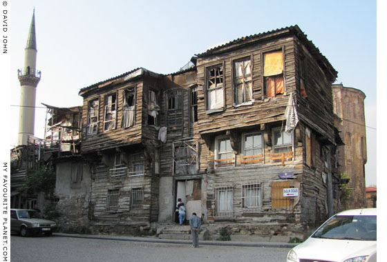 Old wooden house near the Molla Zeyrek Mosque, in the Fatih district, Istanbul at The Cheshire Cat Blog