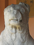 Statue of an ancient Greek dog in the Kerameikos Archaeological Museum, Athens, Greece at The Cheshire Cat Blog