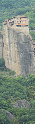 Roussanou monastery, Meteora, Greece at The Cheshire Cat Blog