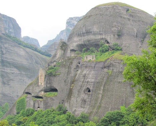 The abandoned Doupiani monastery, Meteora, Greece at The Cheshire Cat Blog
