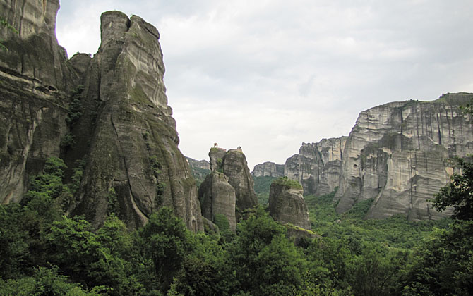 Meteora rocks, Greece at The Cheshire Cat Blog