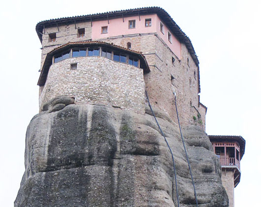 The Monastery of Rousanou, Saint Barbara, Meteora, Greece at The Cheshire Cat Blog