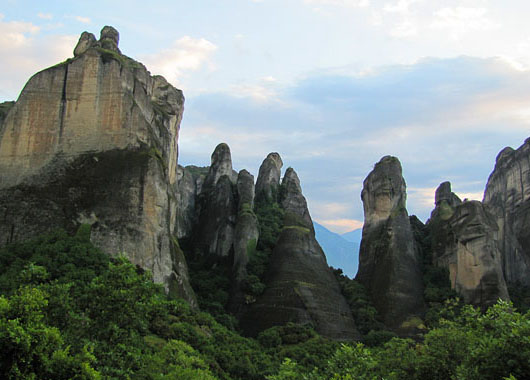 The rugged rocks of Meteora, Greece at The Cheshire Cat Blog