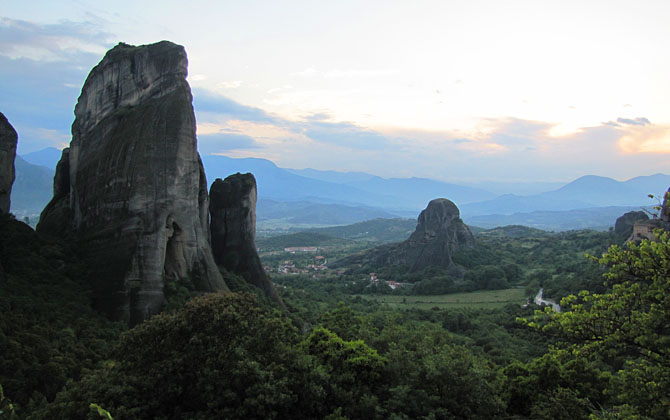 The rock of Agion Pnevma, Meteora, Greece at The Cheshire Cat Blog