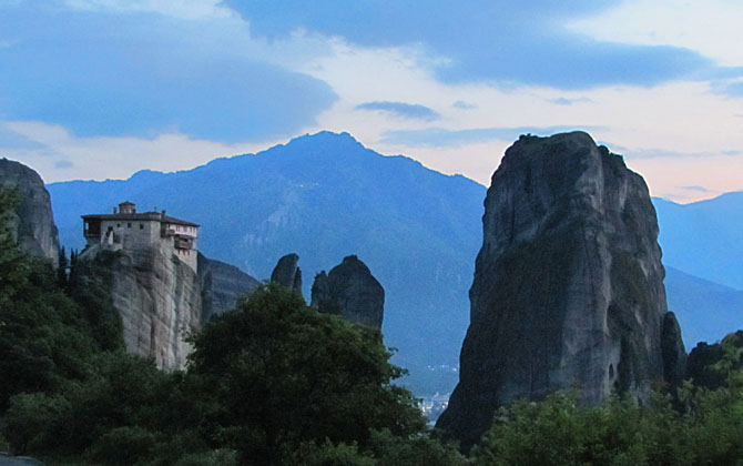 The Monastery of Roussanou, Agia Barbara, Meteora, Greece at The Cheshire Cat Blog