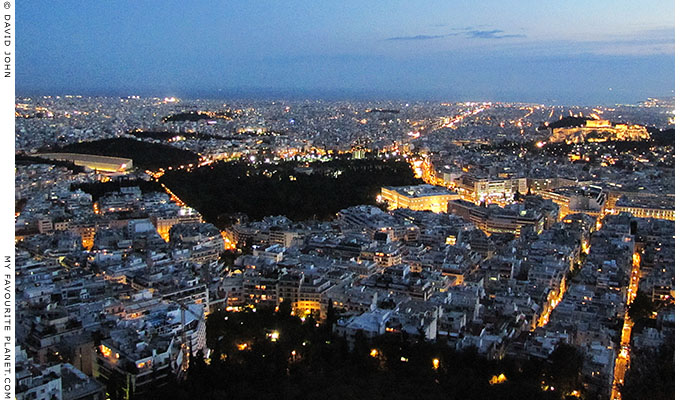 Evening in central Athens at The Cheshire Cat Blog