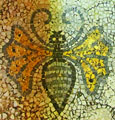 "Bee mosaic in Heinrich Schlemann's mansion, ""Iliou Melathron"", now the Numismatic Museum, Athens, Greece at The Cheshire Cat Blog"