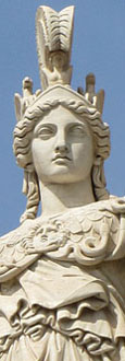 Statue of Athena, the Academy of Sciences, Athens, Greece at The Cheshire Cat Blog