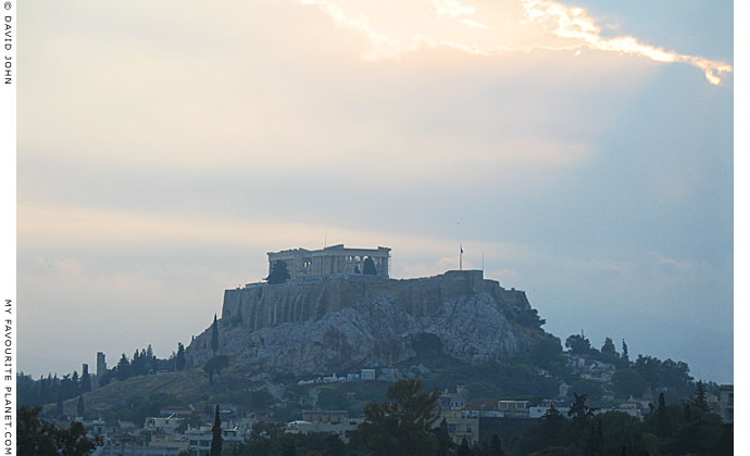 The Acropolis from Pangrati, late afternoon at The Cheshire Cat Blog