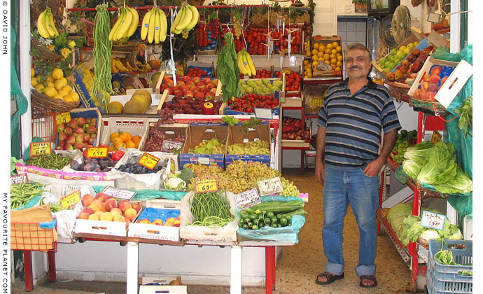 Greengrocer in the Pangrati district of Athens at The Cheshire Cat Blog