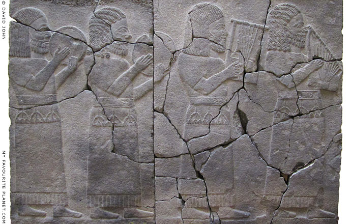 Late Hittite basalt relief depicting musicians, 8th century BC at The Cheshire Cat Blog