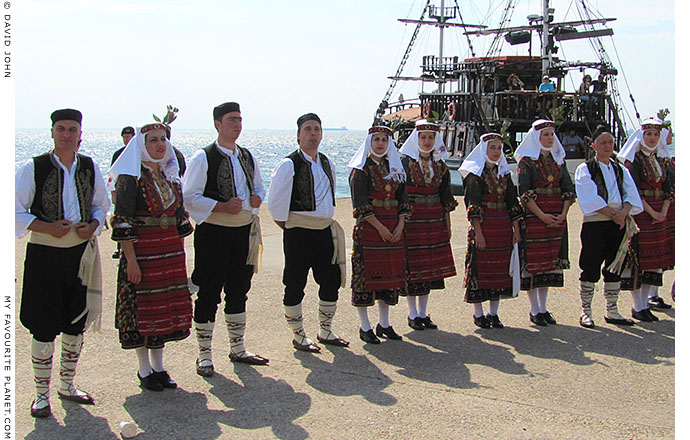 A Macedonian folk dance troupe in Thessalonica, Macedonia, Greece, at The Cheshire Cat Blog