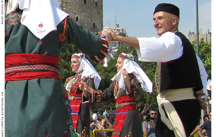 Traditional Greek dance in Thessaloniki, at The Cheshire Cat Blog