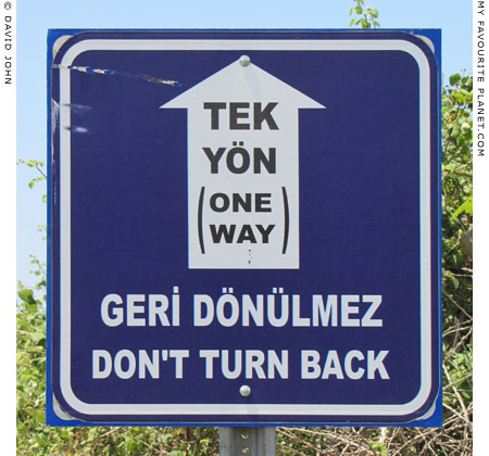 One way road sign, Ephesus, Turkey at The Cheshire Cat Blog