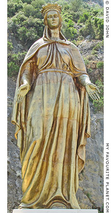 Gilded statue of the Virgin Mary on the road to Meryemana, Ephesus, Turkey at The Cheshire Cat Blog